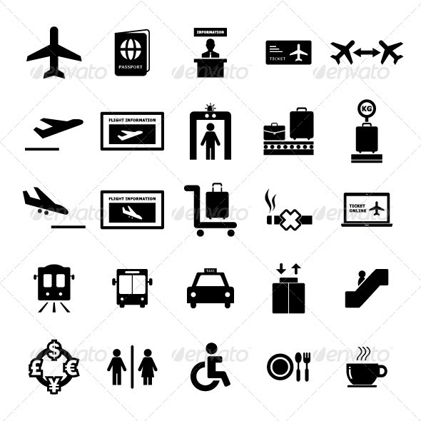 Airport Icon set - Icons