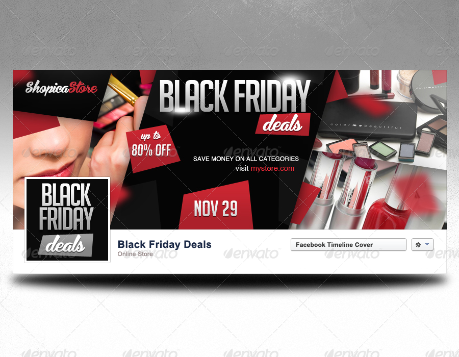 Black Friday Promotional Facebook Covers By
