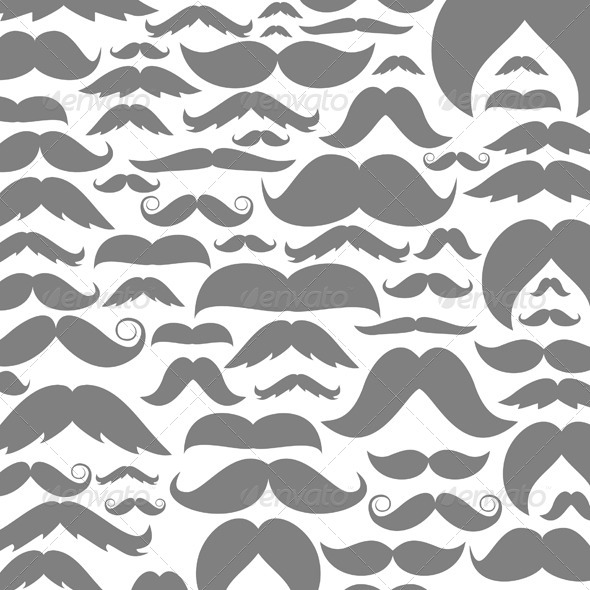 Moustaches Background - Miscellaneous Vectors