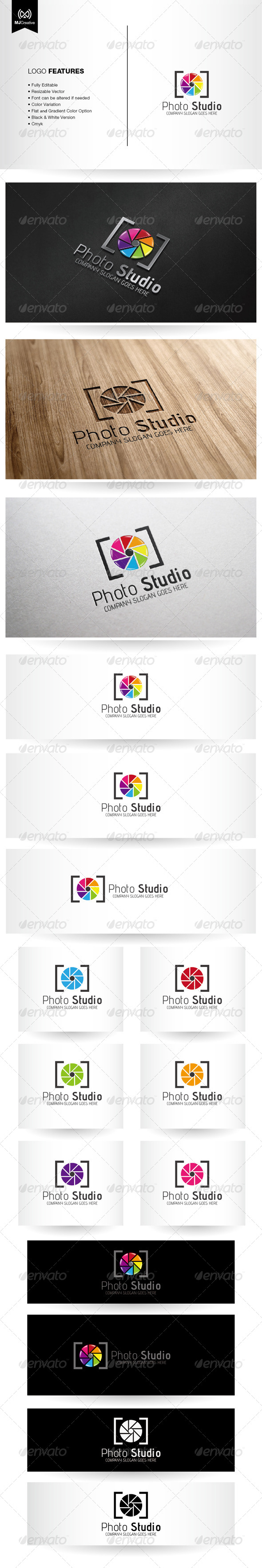 Photo and Colorful shutter Logo - Vector Abstract