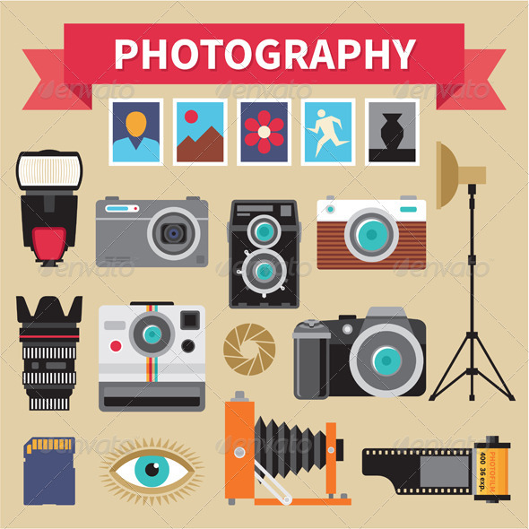 Photography - Vector Design Elements - Technology Conceptual