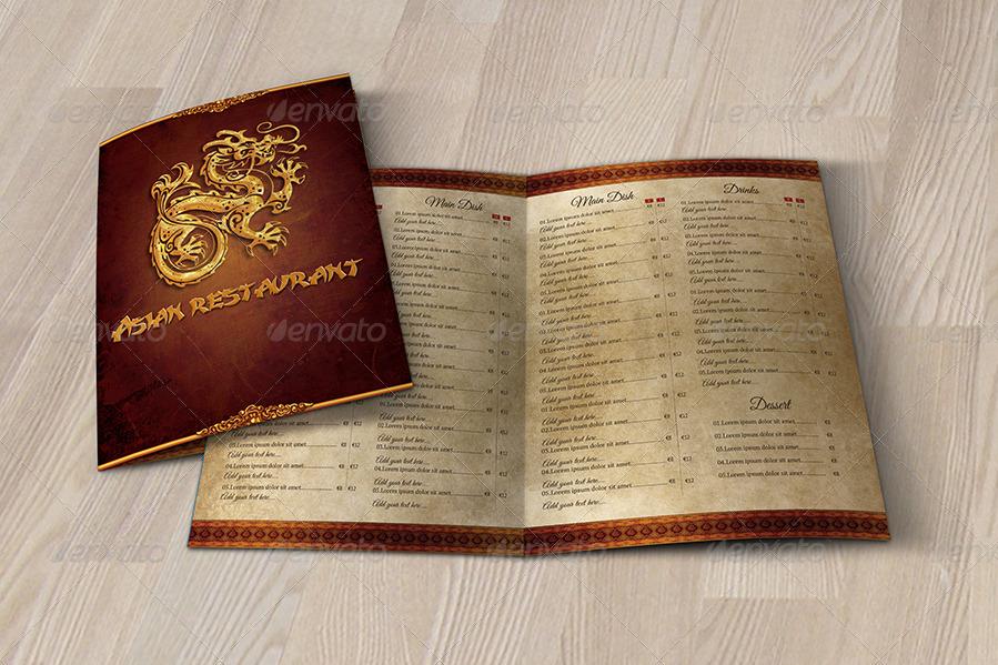 asian restaurant menu template by simplicity88 graphicriver. Black Bedroom Furniture Sets. Home Design Ideas