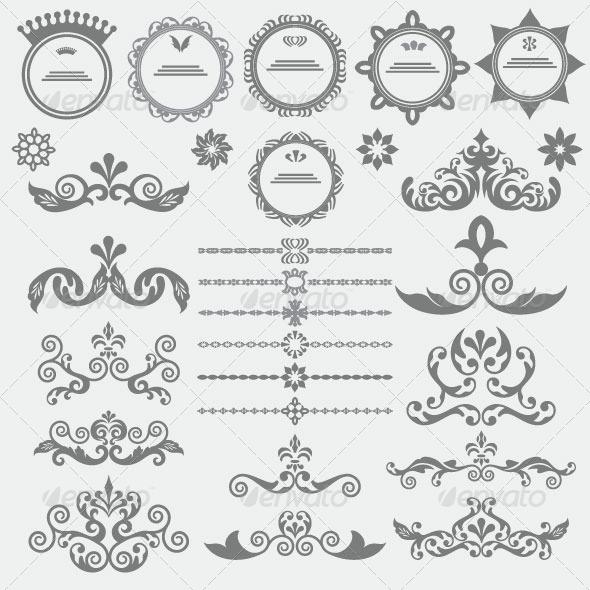 Vintage Design Elements 87 - Decorative Vectors