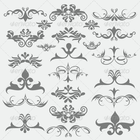 Vintage Design Elements 89 - Decorative Vectors