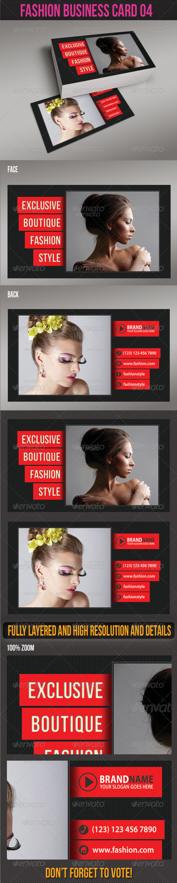 Fashion Business Card 04 - Creative Business Cards