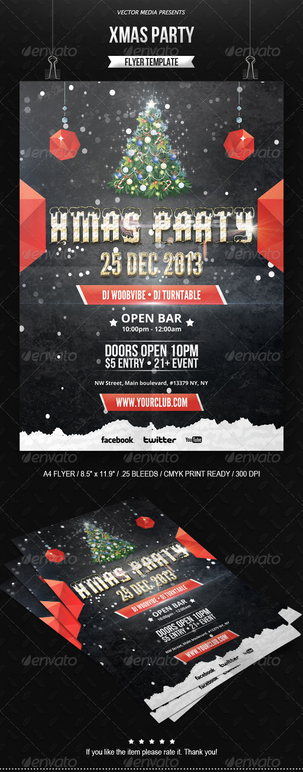 Xmas Party - Flyer - Clubs & Parties Events