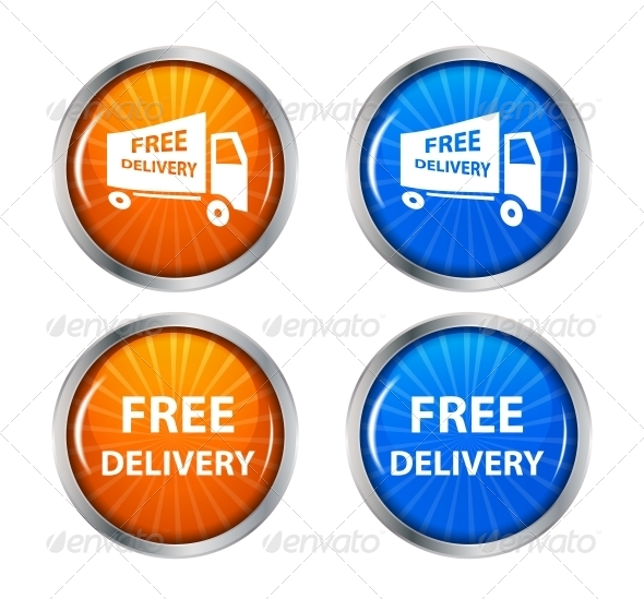 Free Shipping Delivery Icon Set - Decorative Symbols Decorative