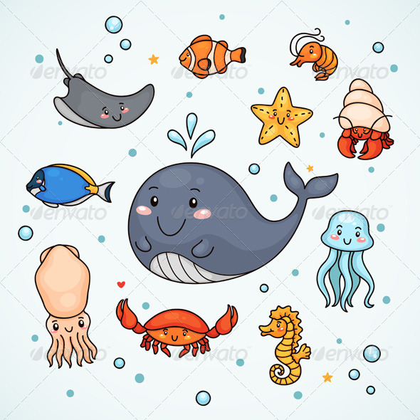 Sealife - Animals Characters