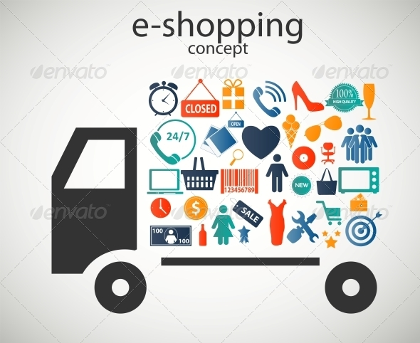E-Shopping Concept - Web Technology
