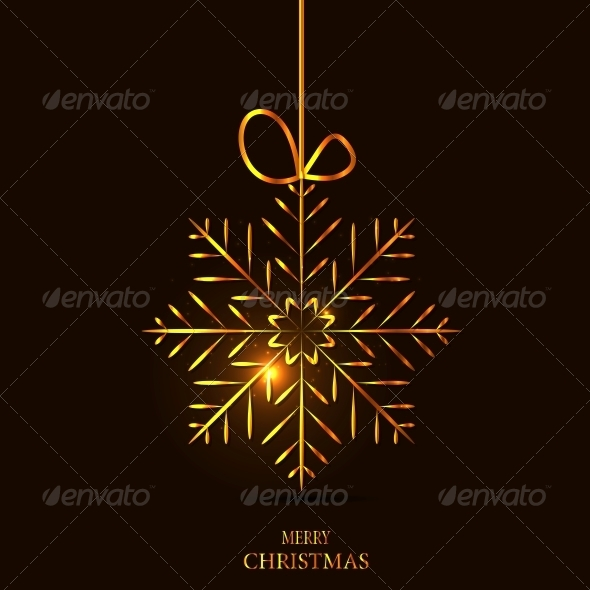 Christmas Snowflake Background - Christmas Seasons/Holidays