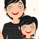 Rocker Father and Daughter - GraphicRiver Item for Sale