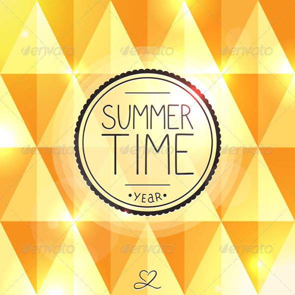 Bright Summer Card - Backgrounds Decorative