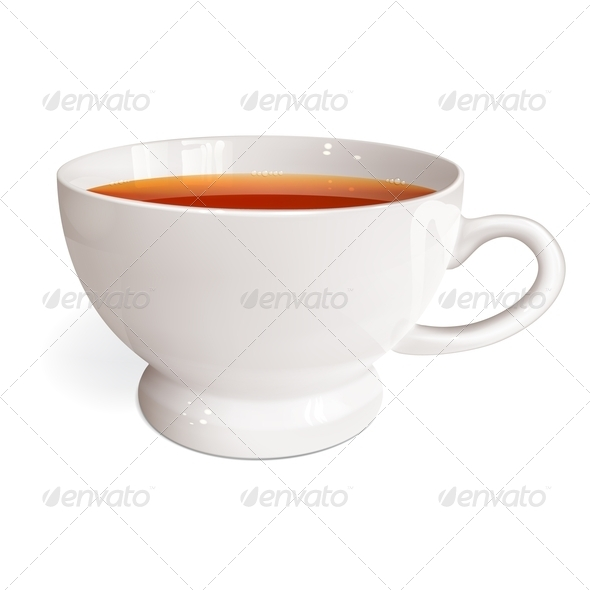 White Cup of Tea - Food Objects