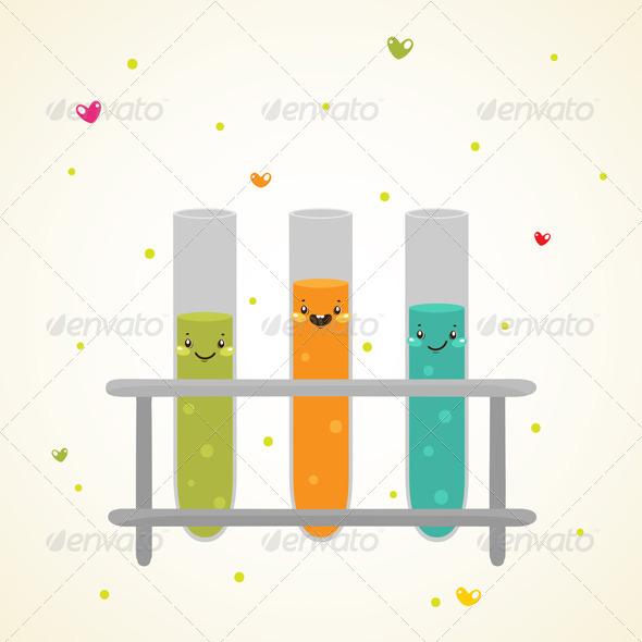 Laboratory Glass Test Tubes - Health/Medicine Conceptual