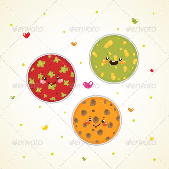 Bacteria in Petri Dishes - Health/Medicine Conceptual