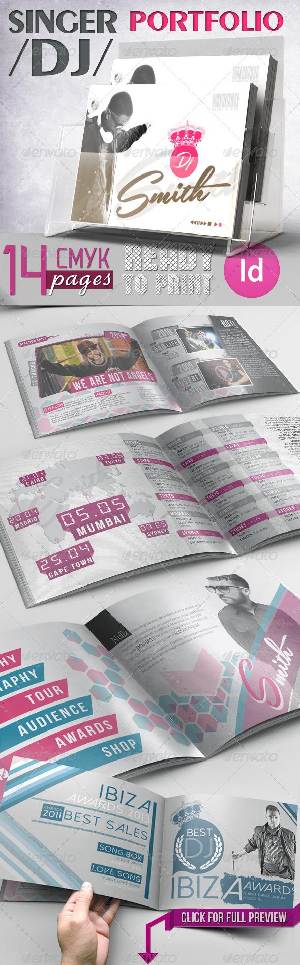 Singer / DJ Portfolio - Portfolio Brochures