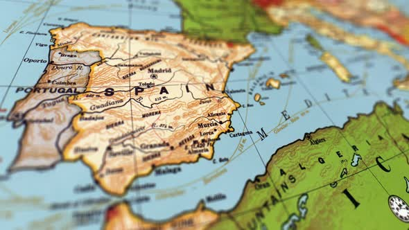 Spain on World Map by FootageStock | VideoHive