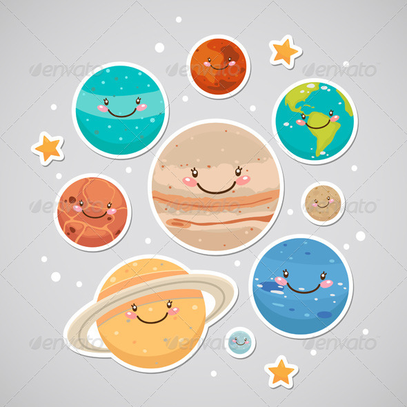 Planet Stickers - Nature Conceptual