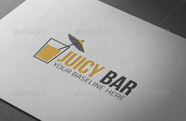 Juicy Bar Logo Template