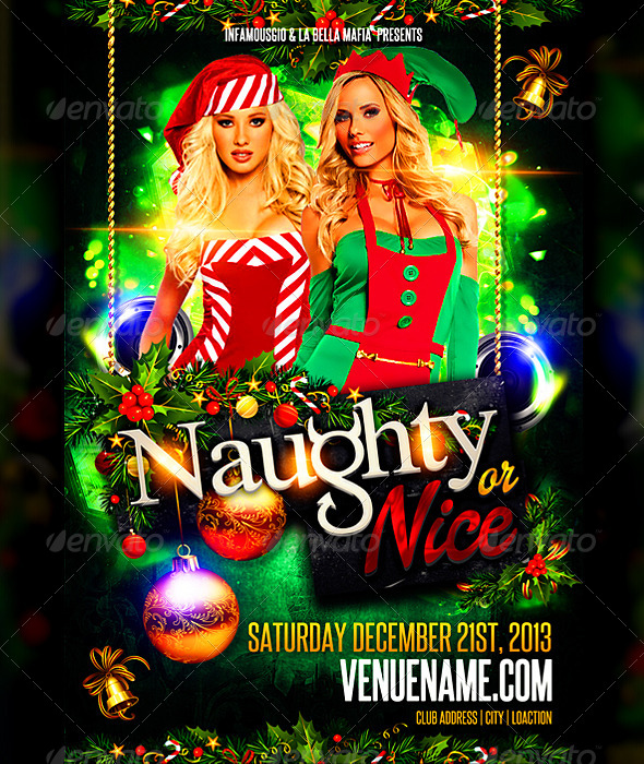 Naughty or Nice - Events Flyers