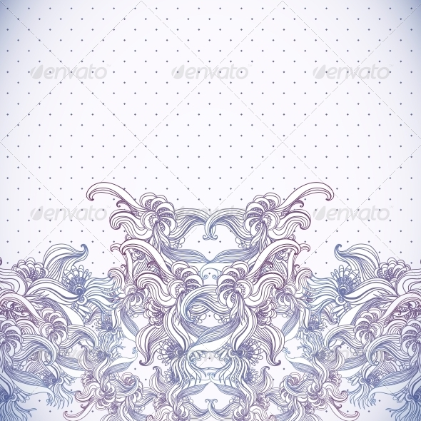 Vintage Background, Baroque Pattern  - Patterns Decorative