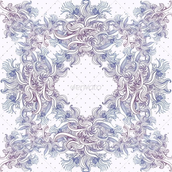 Seamless Vintage Background, Baroque Pattern  - Patterns Decorative