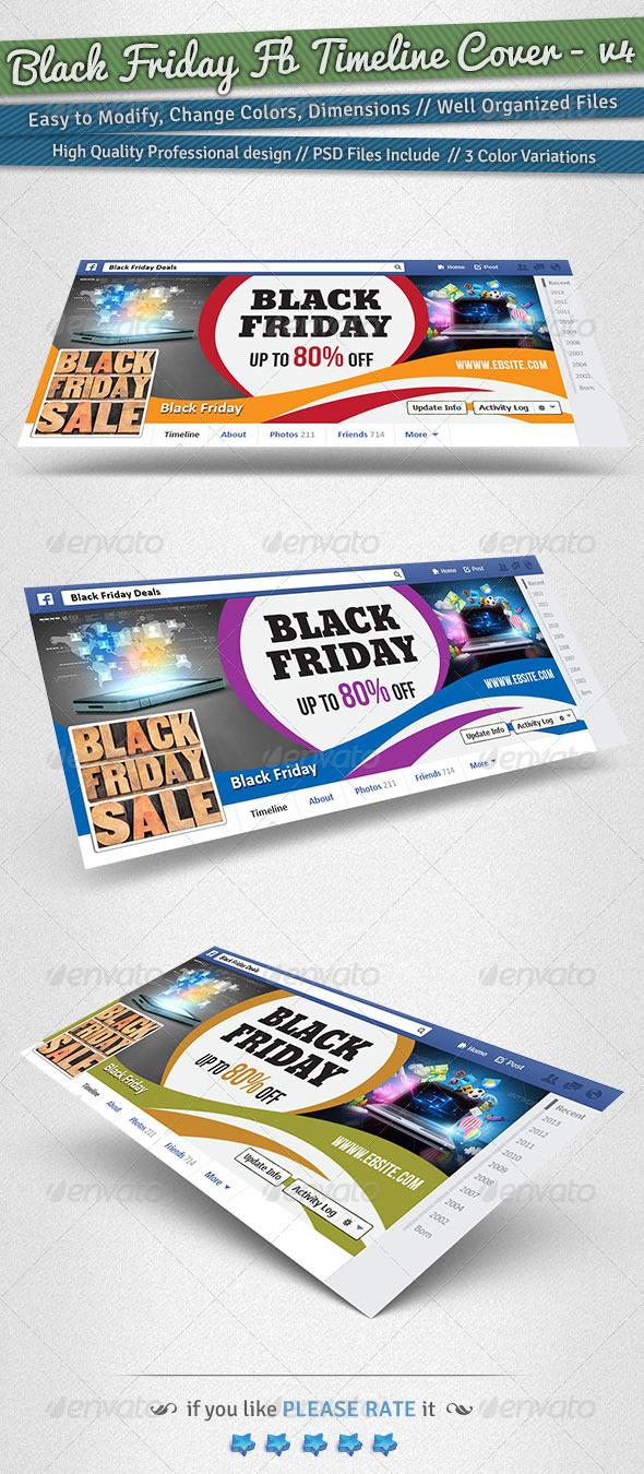 Black Friday / Promotion Timeline Cover | Volume 4 - Facebook Timeline Covers Social Media