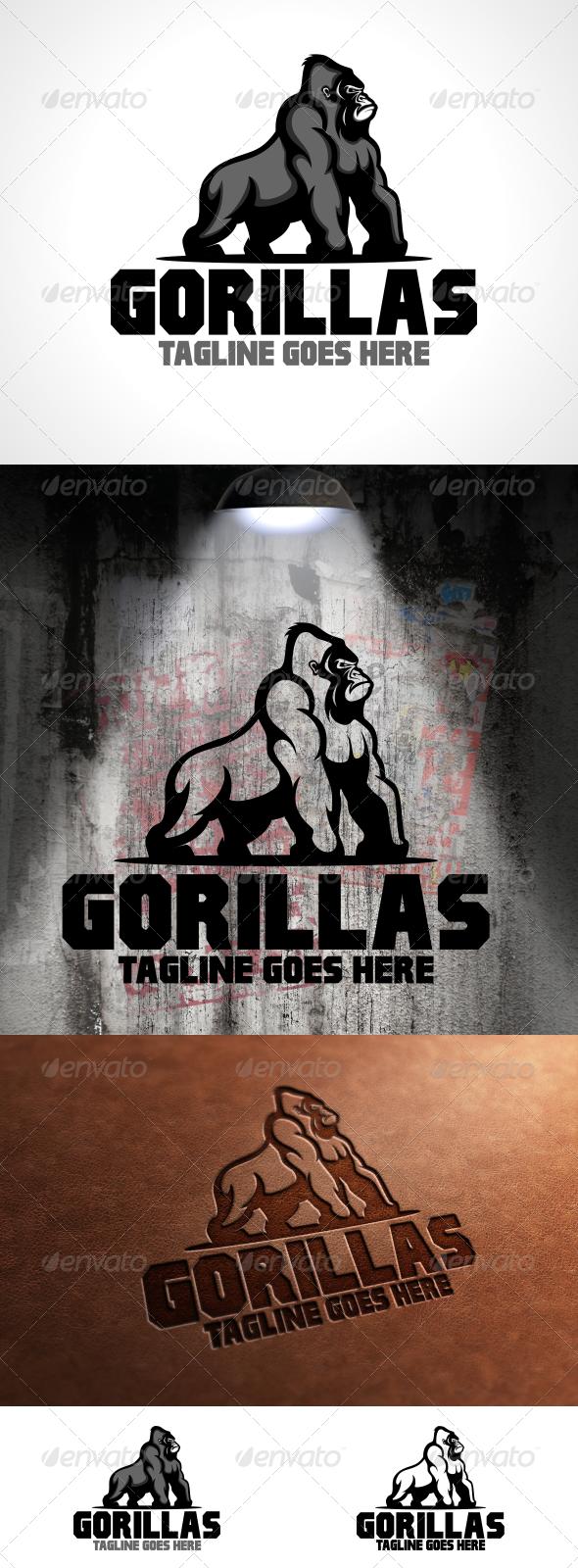 Gorillas Logo Template - Animals Logo Templates