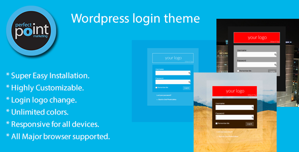 Wordpress login theme - CodeCanyon Item for Sale