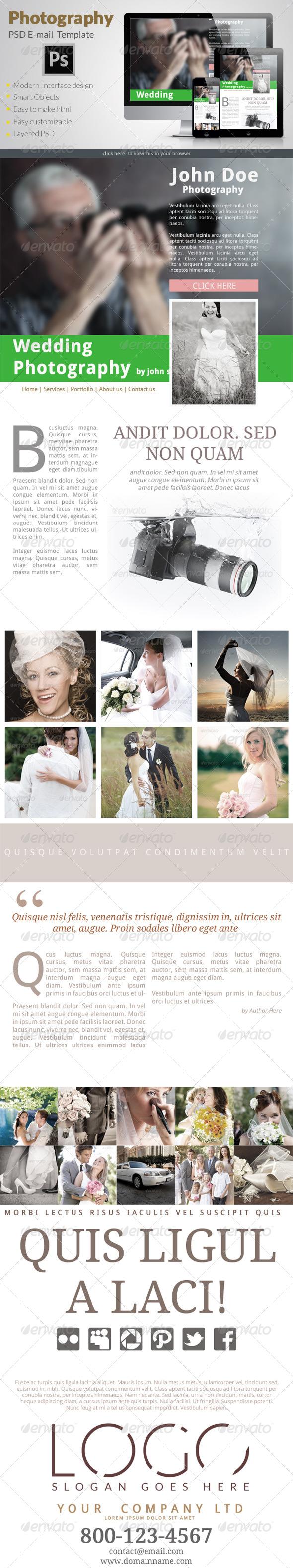 Photography E-Newsletter - E-newsletters Web Elements