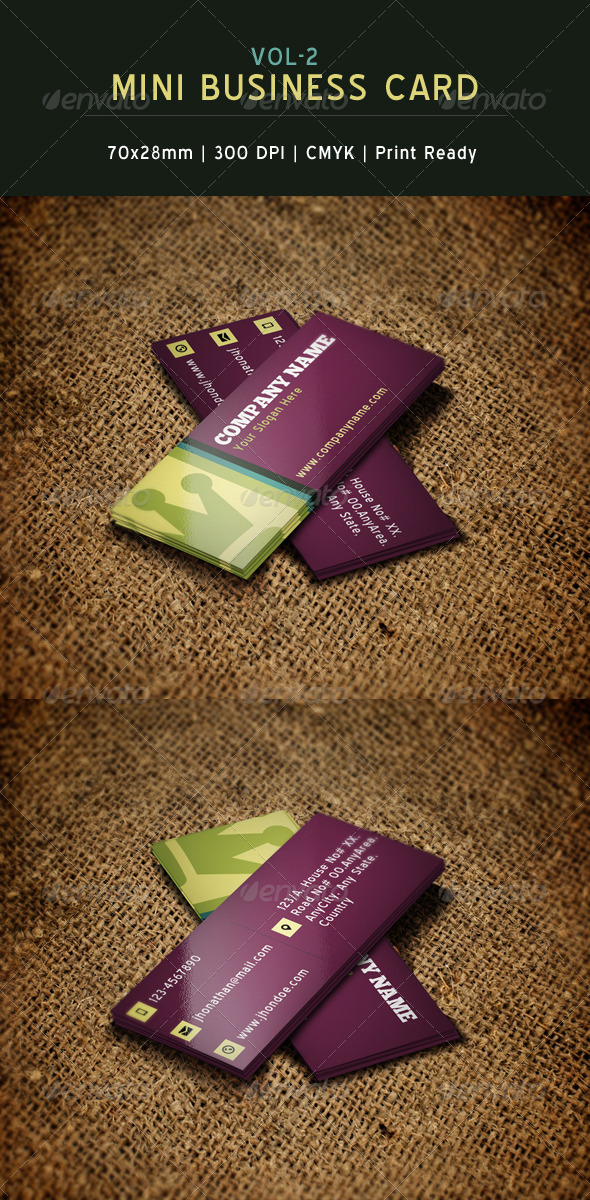 Creative Mini Business Card 2 - Creative Business Cards