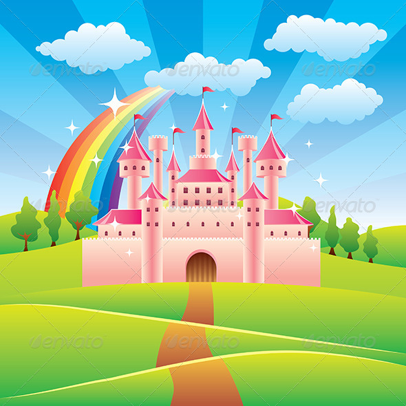 Fairy tale castle by andegro4ka graphicriver fairy tale castle buildings objects pronofoot35fo Choice Image