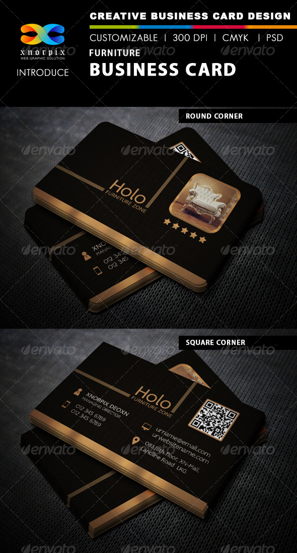Furniture business card by axnorpix graphicriver furniture business card corporate business cards colourmoves