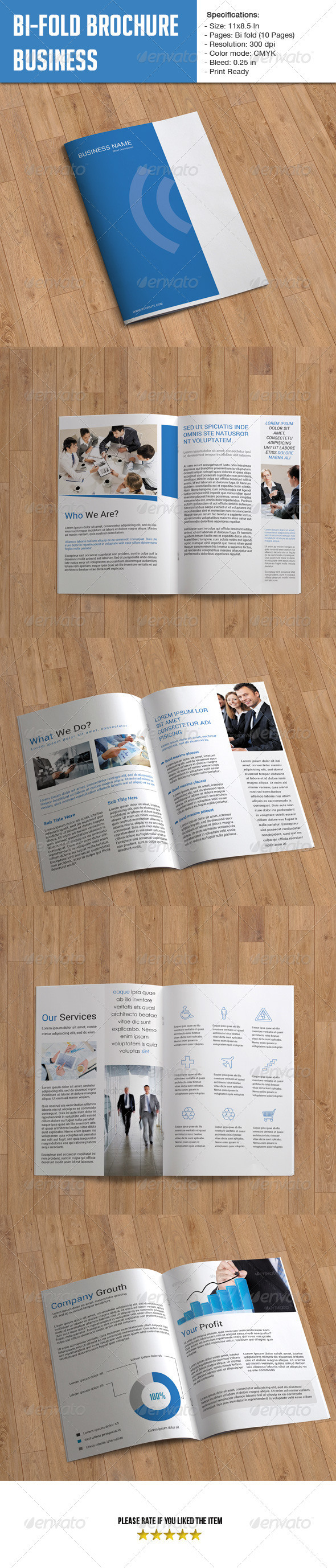 Bifold Brochure for Business-10 Pages - Corporate Brochures