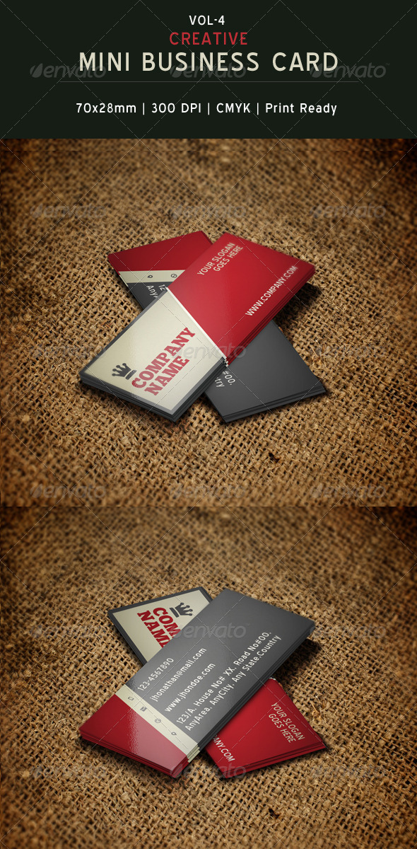 Creative Mini Business Card Template By CreativeSourceonline - Mini business card template