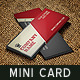 Creative Mini Business Card Template 04 - GraphicRiver Item for Sale