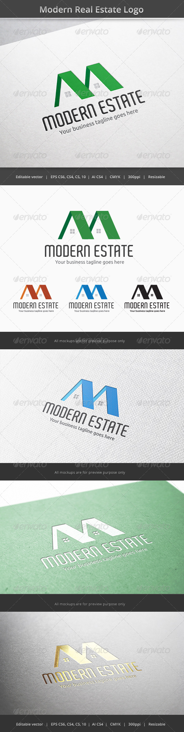Modern Real Estate Logo - Letters Logo Templates