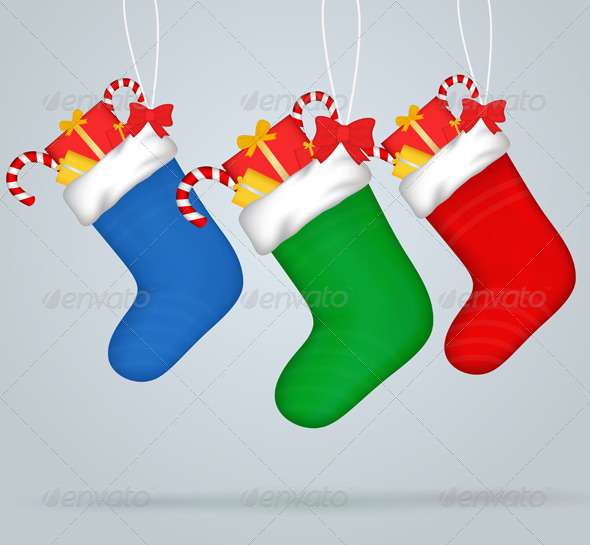 Christmas Socks - Christmas Seasons/Holidays