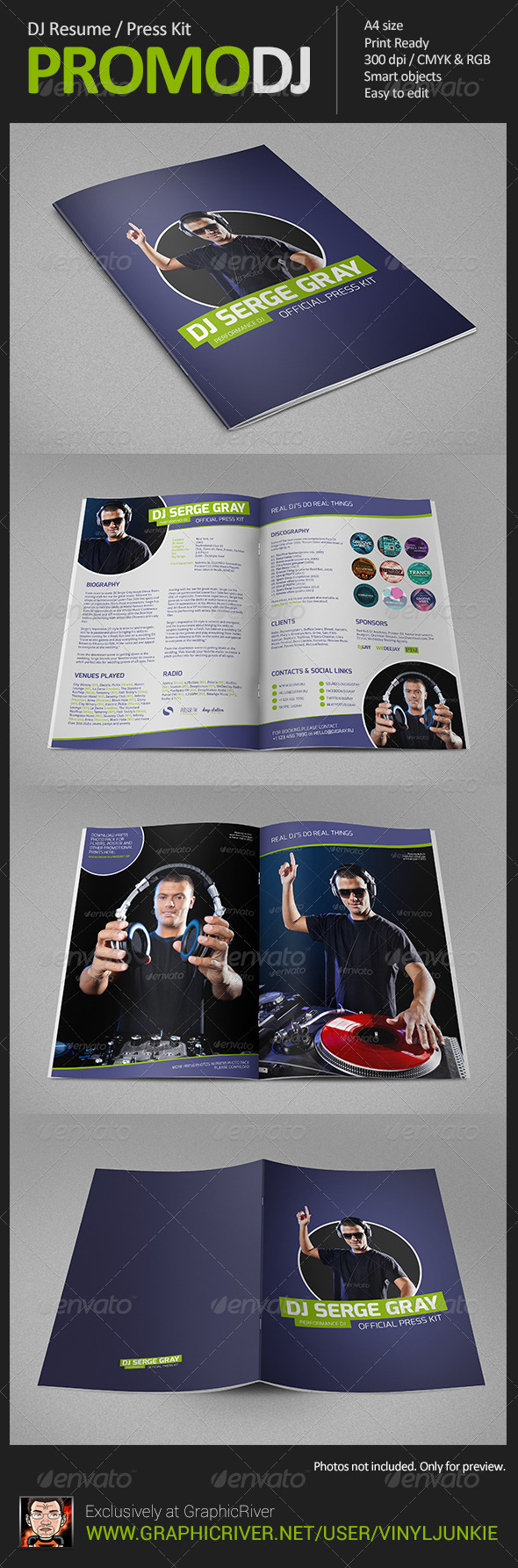 PromoDJ - DJ Resume / Press Kit - Resumes Stationery