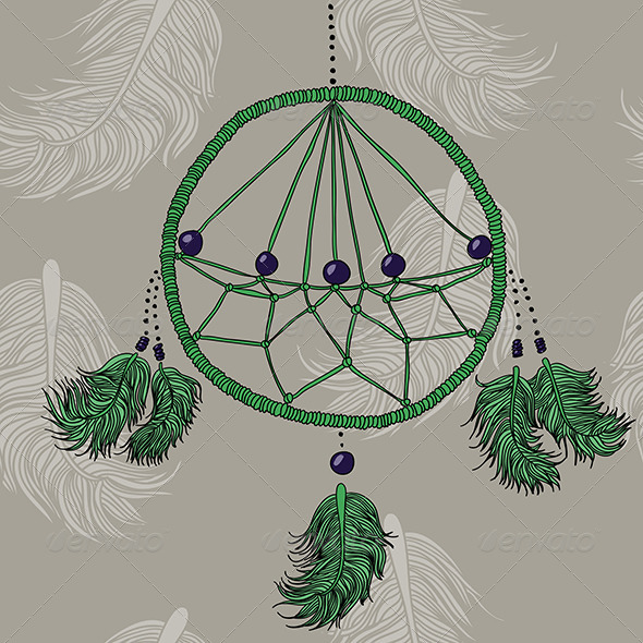 Green Dreamcatcher - Decorative Symbols Decorative