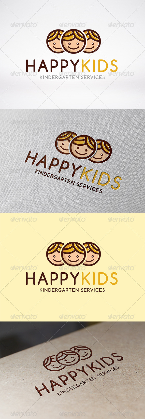 Happy Kids Logo Template - Humans Logo Templates