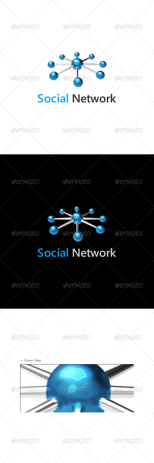 Social - Networking Logo  - 3d Abstract