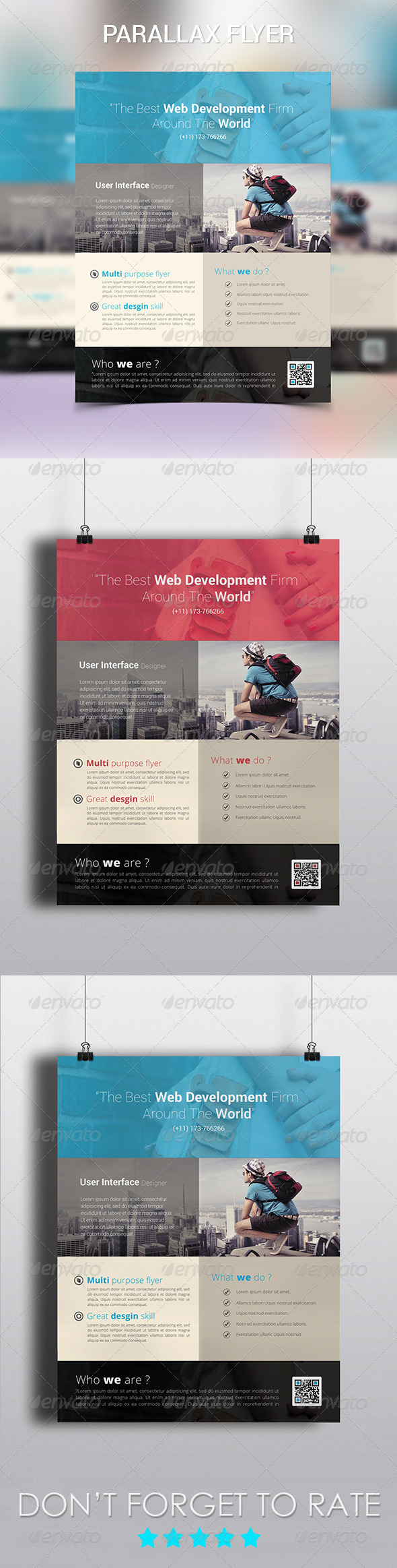 Parallax Modern Corporate Flyer - Corporate Flyers