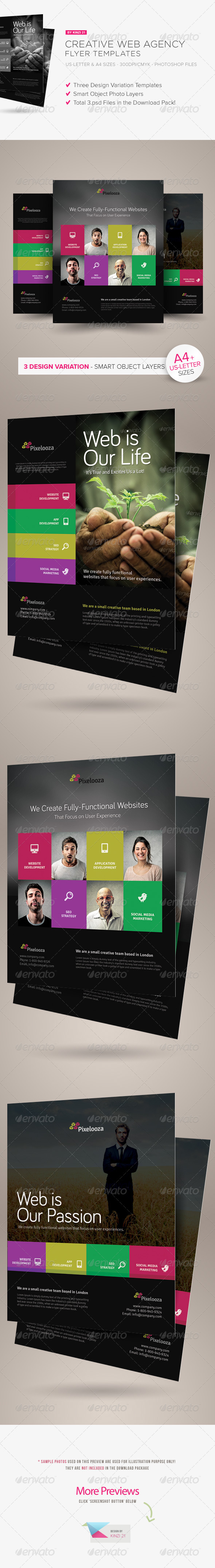 Creative Web Agency Flyers - Corporate Flyers
