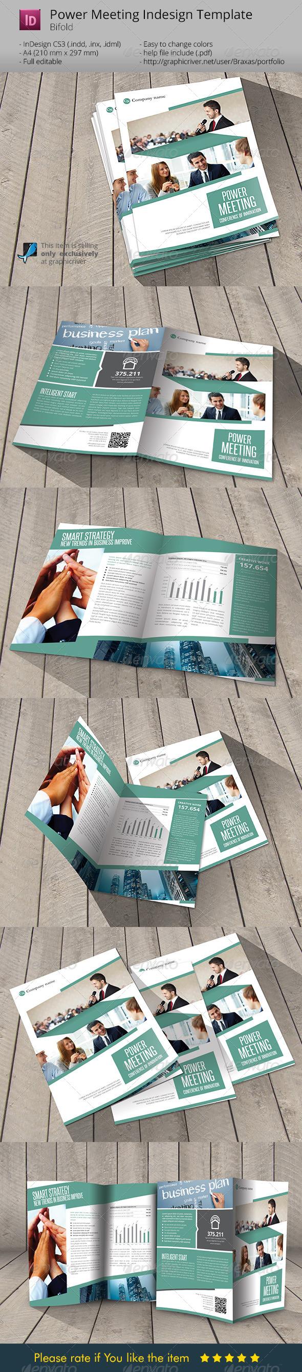 Power Meeting Indesign Template Brochure - Informational Brochures