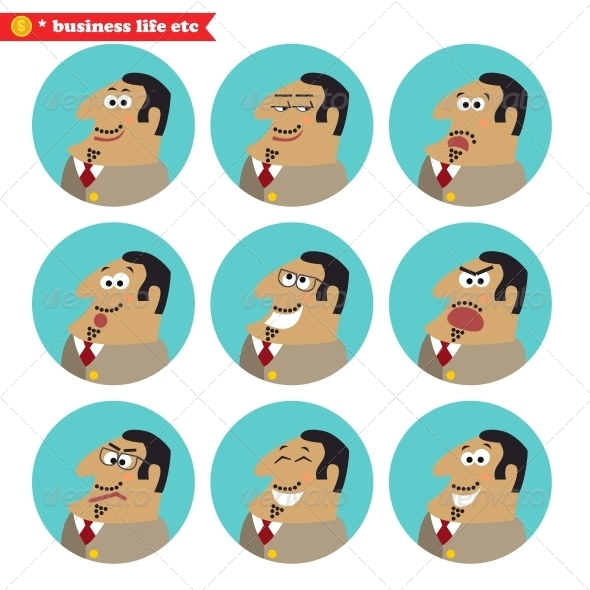 Boss Facial Emotions - Concepts Business