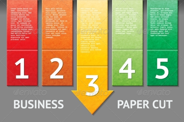Business Paper Cut Template - Web Technology