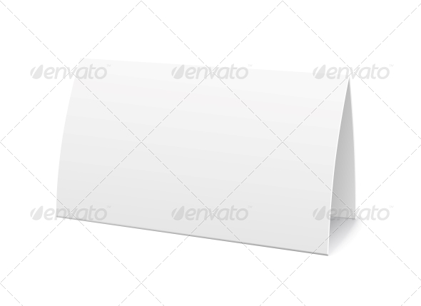 Paper Table Card, Sign Template - Borders Decorative