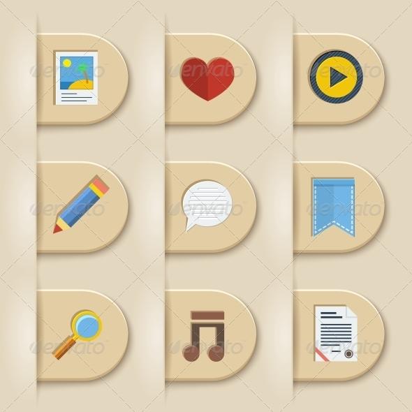 Media Symbol on Paper Cuts - Web Technology