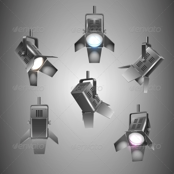 Stage Lighting - Man-made Objects Objects